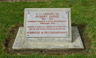 Argences memorial to Robert Sarre member of the resistance