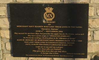 Arromanches Memorial to Merchant Navy Seamen