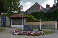 Chambois memorial to Canadian armed forces