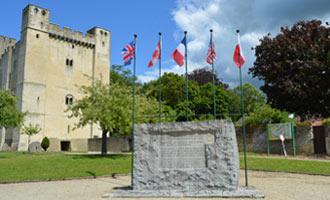 Chambois Memorial to the closing of the Falaise pocket