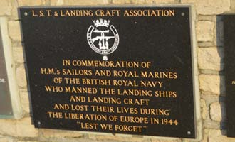 Memorial to the men who lost their lives manning the landing ships and landing crafts