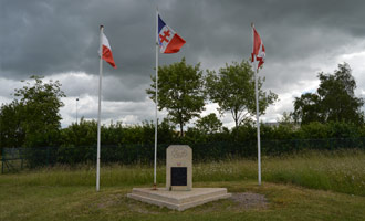Monts d'Eraines memorial to 4 French Aviators