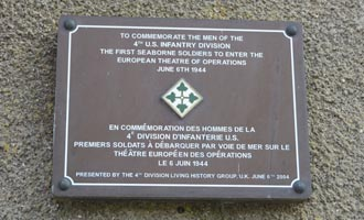 Plaque to the 4th U.S. Infantry Division, Sainte-Marie-du-Mont