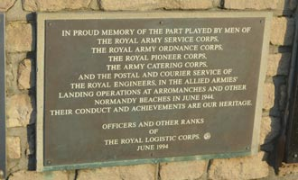 Royal Legistics Corps Memorial, Arromanches