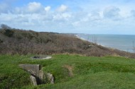 WN60 looking over tubrok to Omaha Beach